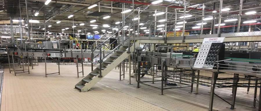 Vibration Tiling for Diageo Runcorn Bottling Line Upgrade
